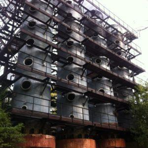 Колонна для улавливания и обезвреживания нитрозных газов