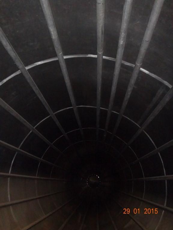 Силос алюминиевый с обогревом объём 200 м.куб.