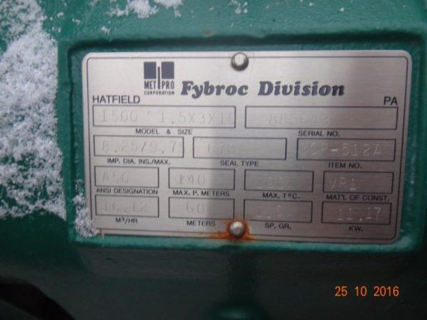 Центробежный насос FYBROC серии 1500
