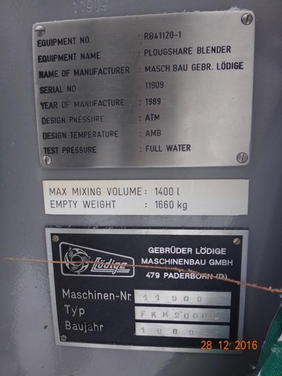 Смеситель периодического действия тип FKM – 2 000 D