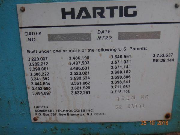 """Горизонтальный одношнековый экструдер HARTIG 3 ?"""" 24:1 L/D"""