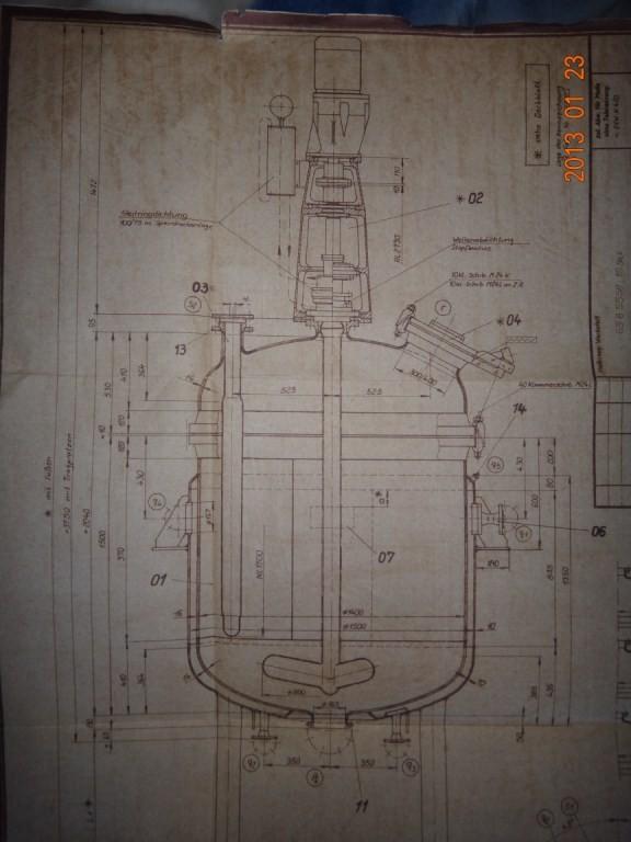 Химический реактор сталь-эмаль 2,5 м. куб.