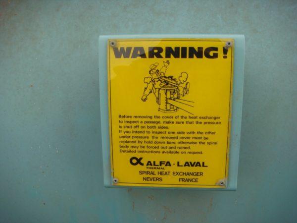 Спиральный теплообменник Alfa Laval F=122 м.кв
