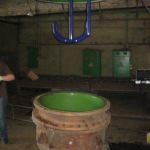 Аппарат с перемешивающим устройством чугун-эмаль объём 400 литров